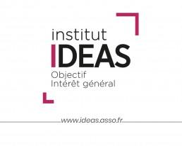 Image du logo d'IDEAS avec sa signature et l'adresse du site
