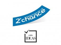 Image du logo de fondation 2eme chance et du logo du Label IDEAS