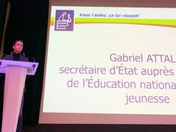 Gabriel Attal lors de son intervention