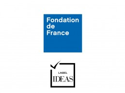 Logo de la Fondation de France et logo du Label IDEAS