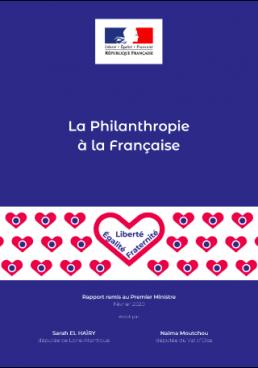 Couverture rapport Philanthropie à la française