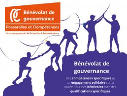 Benevolat de gouvernance - Logo de Passerelles et compétences