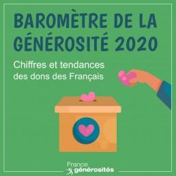 Logo du baromètre de la générosité 2020